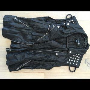 Leather like vest